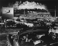 hot shot eastbound at the drive-in, iaeger, west virginia by o. winston link