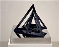 untitled (black triangles) by monir shahroudy farmanfarmaian