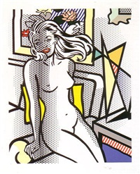 nude with yellow pillow by roy lichtenstein