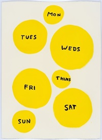 untitled (mon, tues...) by david shrigley