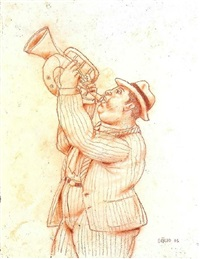 trumpeter by fernando botero