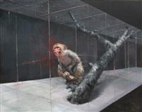 monkey alone inside the space by li tianbing