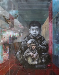 me and the monkey baby by li tianbing