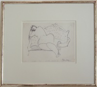 girl on setee by milton avery