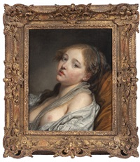 la rêveuse (bust of a young woman) by jean baptiste greuze