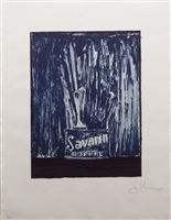 savarin 6 (blue) by jasper johns