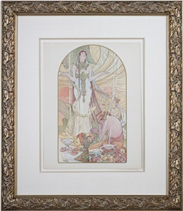 kikis paris by alphonse mucha