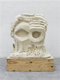 yet to be titled (round head with cutout eyes) by thomas houseago