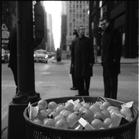 chicago (light bulbs in trash can) by vivian maier