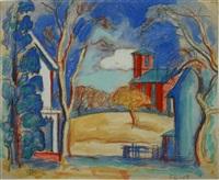schoolhouse, congers ny by oscar florianus bluemner