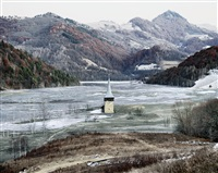 the flooded village of geamana (geamana, central romania), from the series