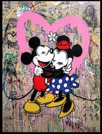mickey and minnie by mr. brainwash