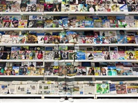 hiding in italy – magazine rack by liu bolin