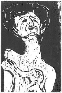 torso of a stretching girl by ernst ludwig kirchner