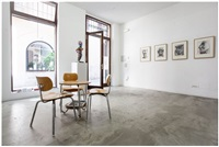 installation view herkules exhibition, office, kewenig palma by markus lüpertz