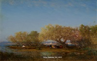 on the banks of the bosphorus - constantinople in the distance by félix ziem