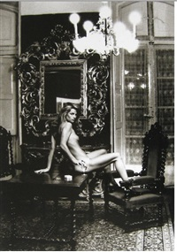 charlotte rampling at the hotel nord pinus ii, arles by helmut newton