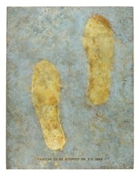 painting to be stepped on (bronze, cast of 1966 version) by yoko ono