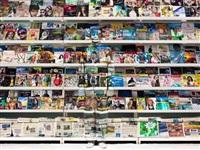 italy - magazine rack by liu bolin