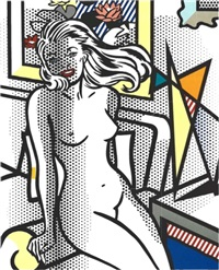 nude with a yellow pillow by roy lichtenstein