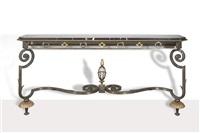 console rectangulaire / rectangular console by gilbert poillerat