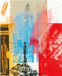 untitled (proposed cover of new york times magazine, constitution issue) by robert rauschenberg