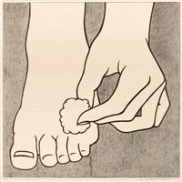 foot medication poster by roy lichtenstein