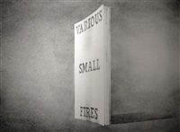 various small fires; from the book covers series by ed ruscha