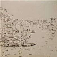 gondoles sur le grand canal by albert marquet