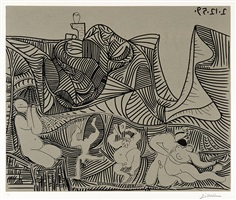 bacchanale au hibou (bacchanale with owl) by pablo picasso
