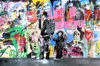chaplin & kid diptych by mr. brainwash