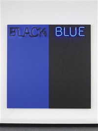 black and blue by deborah kass