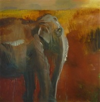 elefanten-steppe by rainer fetting