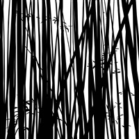 bamboo forest. 1 by julian opie