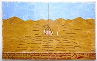 pink table cloth (long shot) (film notes) by rose wylie