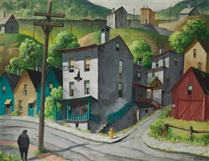 a street corner in paterson, new jersey by henry martin gasser