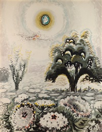 the moon and queen anne's lace by charles ephraim burchfield