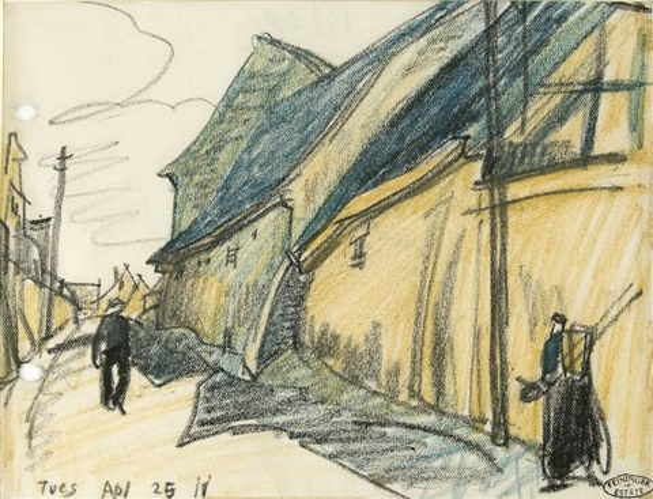 Straßenszene von Lyonel Feininger auf artnet