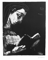 jacqueline lisant by pablo picasso