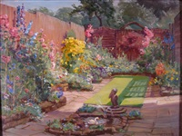 the garden at the white gate by maud hall (rutherford) neale