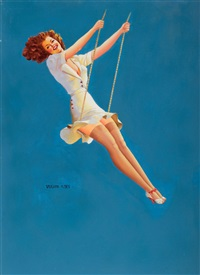 pin-up on a swing by vaughan alden bass