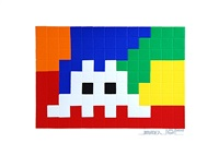 home lego (white) by invader