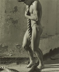 tony with rope, los angeles by herb ritts