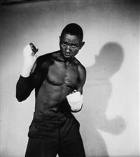 boxeur by malick sidibé