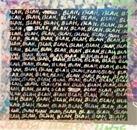 blah, blah, blah + background noise (double-sided) by mel bochner