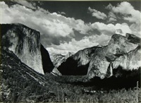 yosemite valley summer by ansel adams