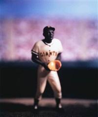 baseball (willie mays) - from david levinthal: baseball series by david levinthal