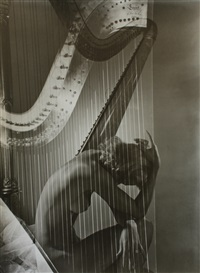 lisa with harp, paris by horst p. horst
