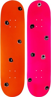 skate decks (set of 2) by nate lowman