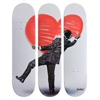 love vandal skate decks (set of 3) by nick walker